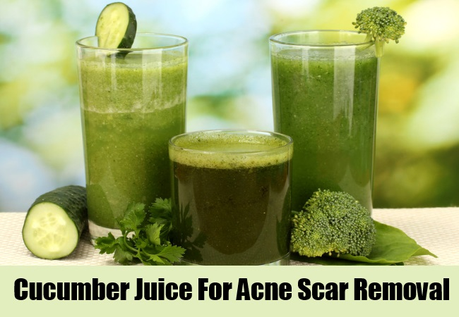 Cucumber Juice For Acne Scar Removal
