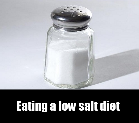 eating a low salt diet