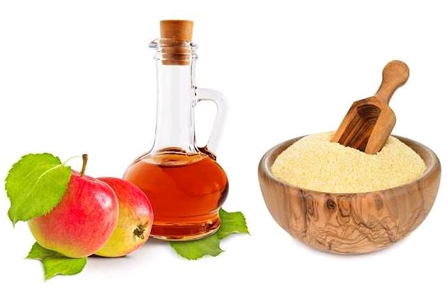 Corn starch apple cider vinegar: