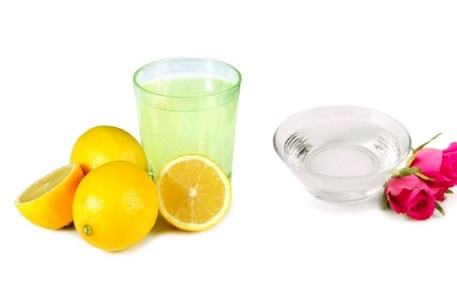 Rose water lemon juice mask: