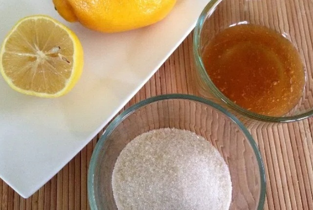 Sugar Lemon Juice Honey Mask
