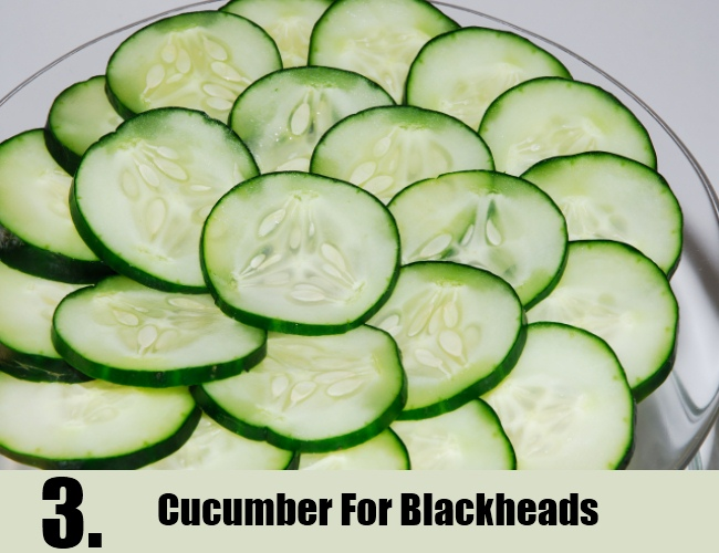 Cucumber For Blackheads