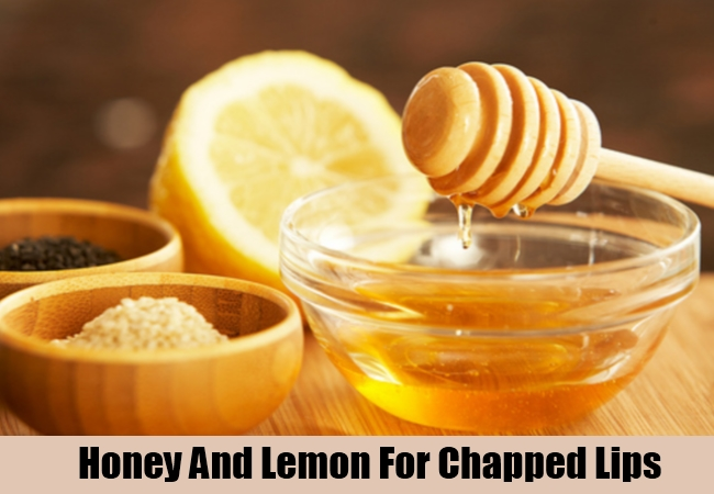 Honey And Lemon For Chapped Lips