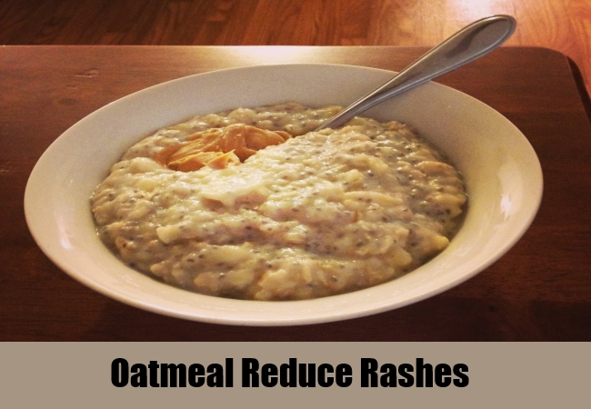 Oatmeal Reduce Rashes