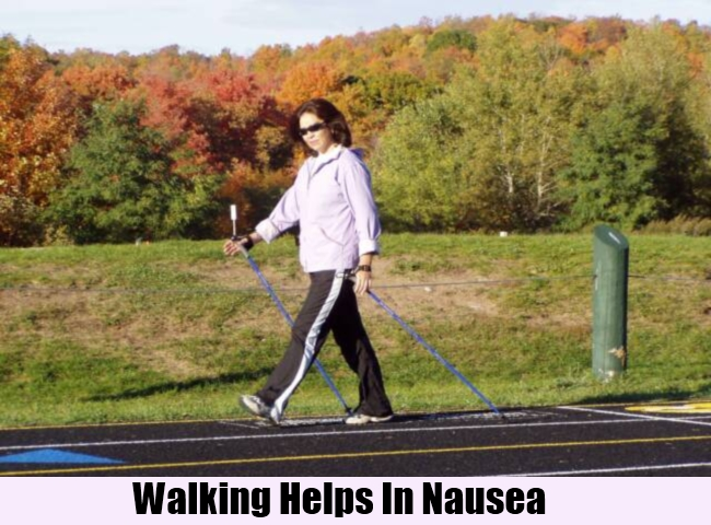 Walking Helps In Nausea