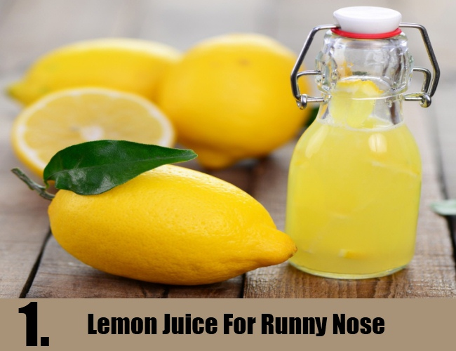 Lemon Juice For Runny Nose