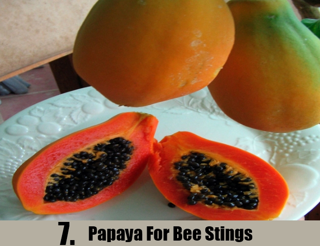 Papaya For Bee Stings