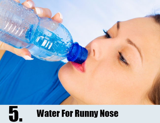 Water For Runny Nose