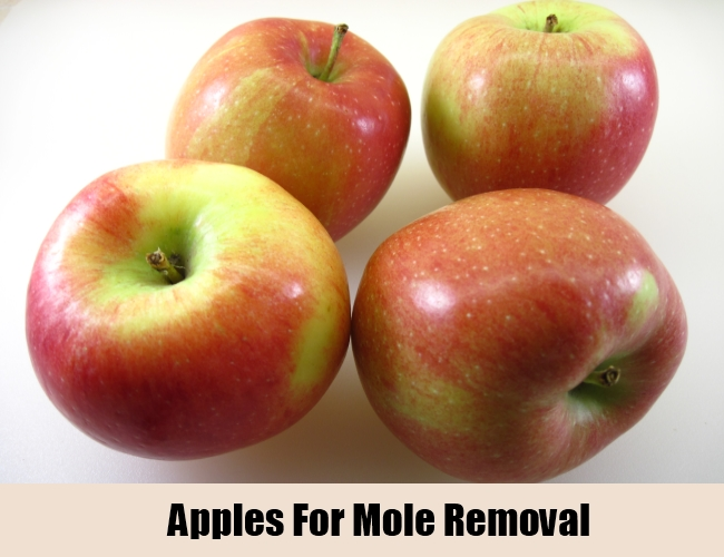 Apples For Mole Removal