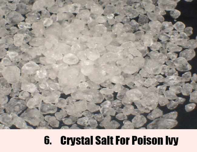 Crystal Salt For Poison Ivy