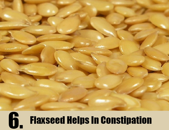 Flaxseed Helps In Constipation