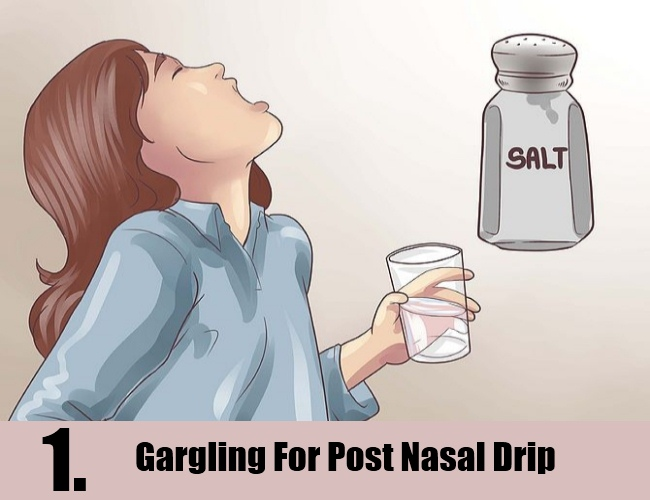 Gargling For Post Nasal Drip