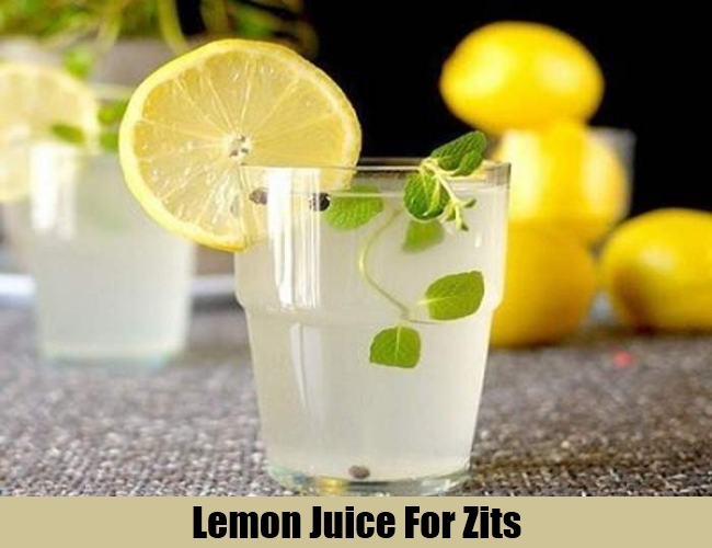 Lemon Juice For Zits