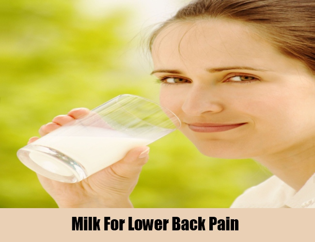 Milk Prevents Lower Back Pain