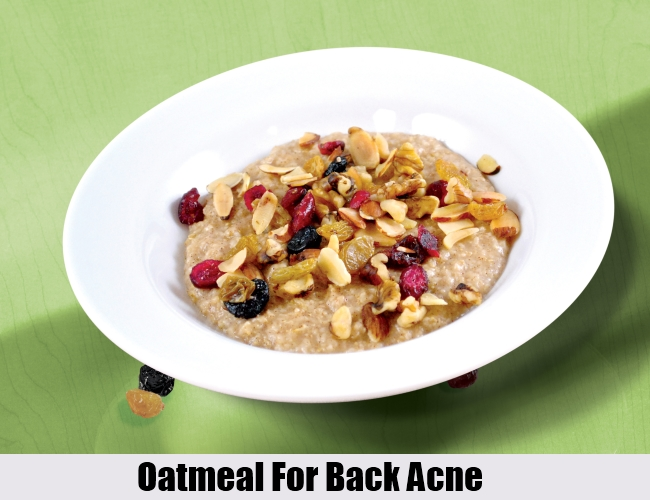 Oatmeal For Back Acne