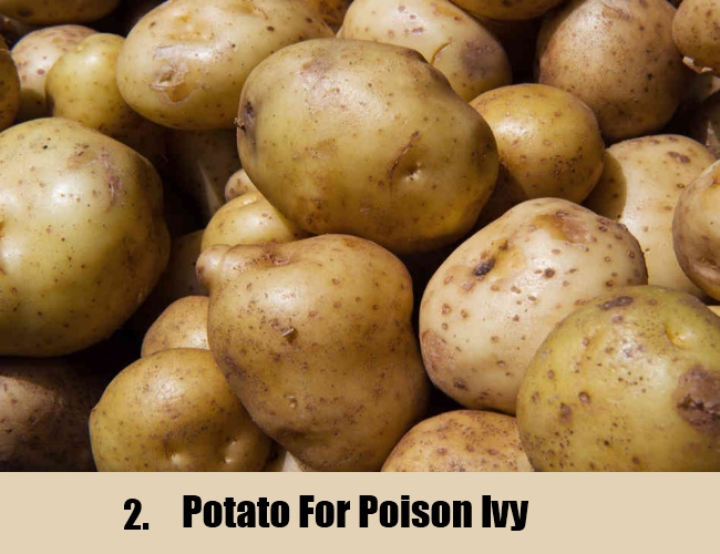 Potato For Poison Ivy