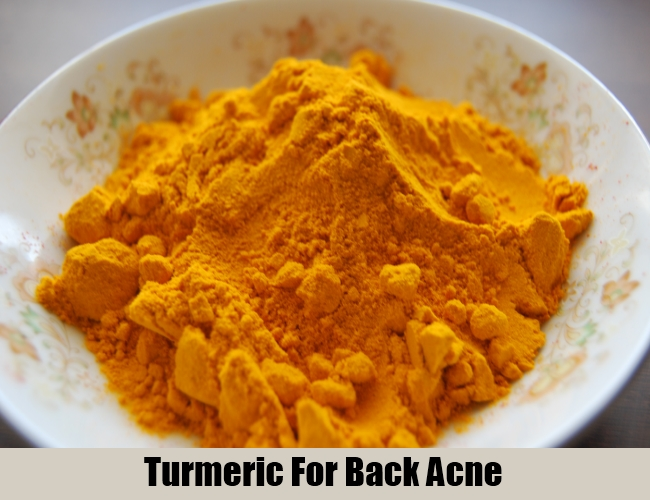 Turmeric For Back Acne