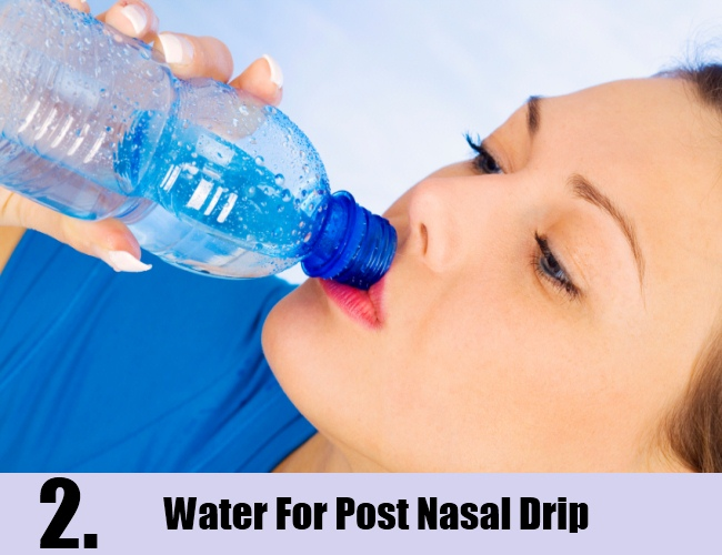 Water For Post Nasal Drip