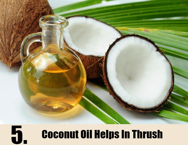 Coconut Oil Helps In Thrush