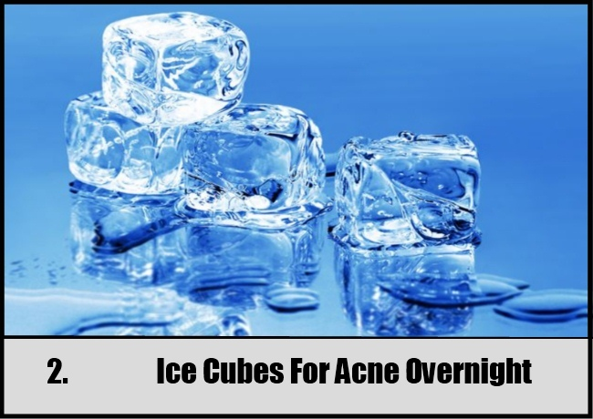 Ice Cubes For Acne Overnight