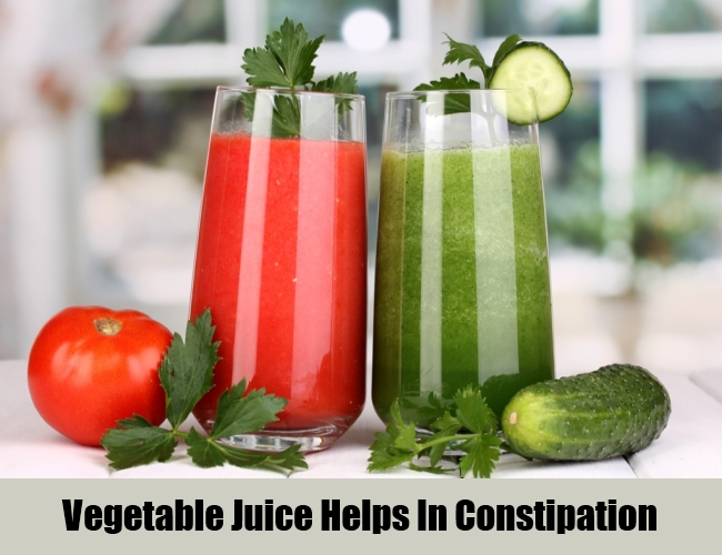 Vegetable Juice Helps In Constipation