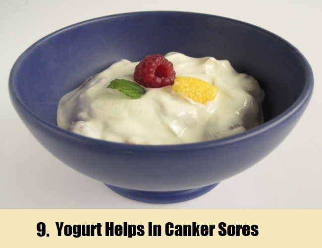 Yogurt Helps In Canker Sores