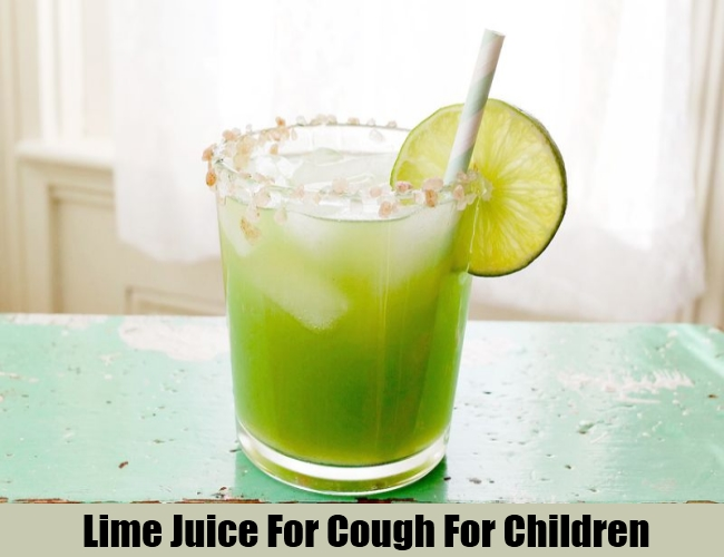 Lime Juice For Cough For Children