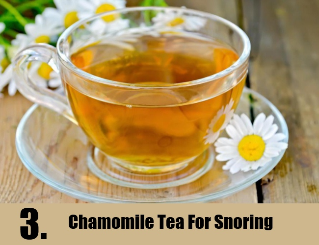Chamomile Tea For Snoring