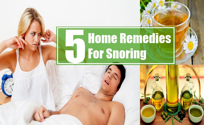 Home Remedies For Snoring