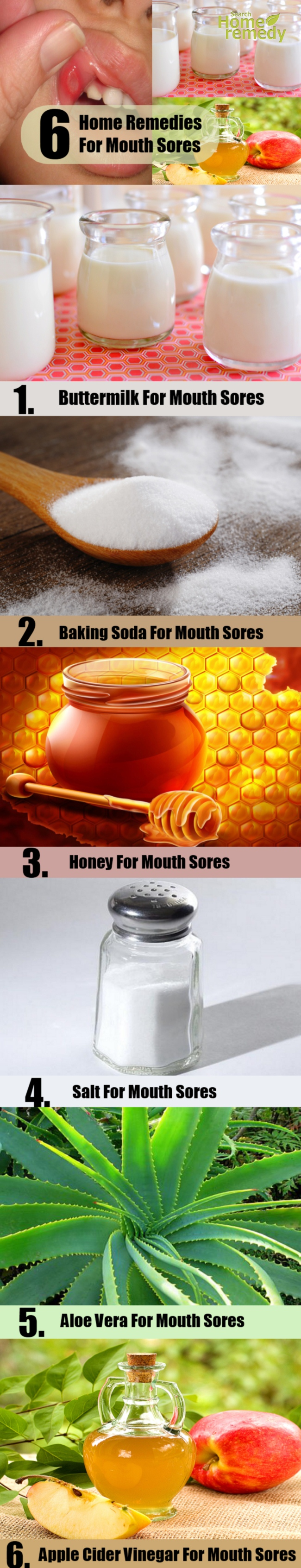 6 Home Remedies For Mouth Sores