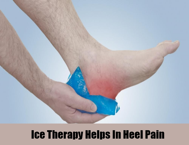 Ice Therapy Helps In Heel Pain
