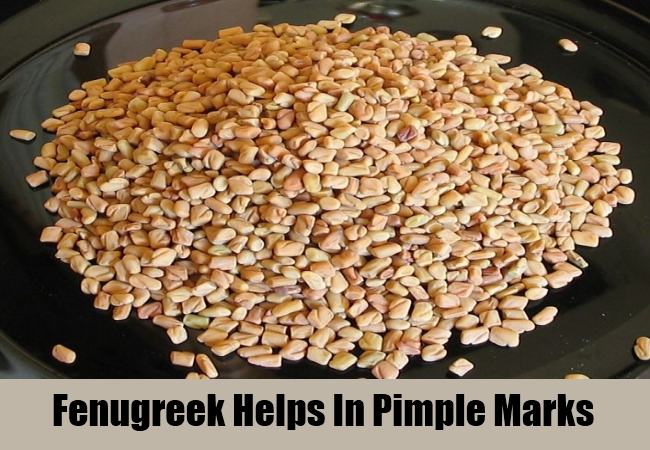 Fenugreek Helps In Pimple Marks