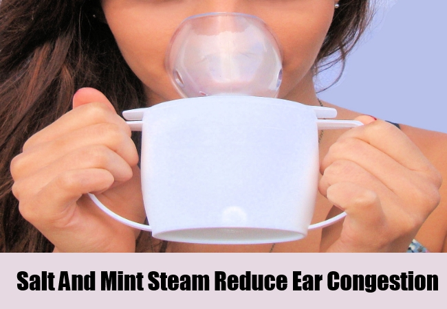 Salt And Mint Steam Reduce Ear Congestion