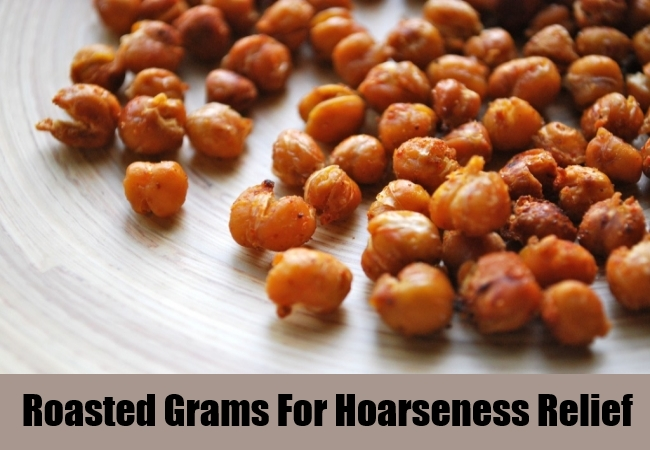 Roasted Grams For Hoarseness Relief