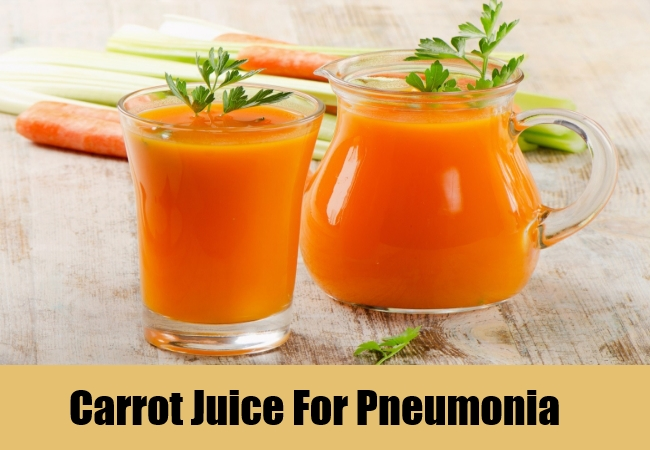 Carrot Juice For Pneumonia