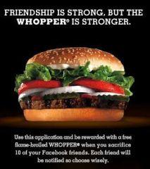 Whopper Sacrifice Picture