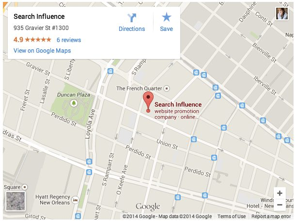 Google My Business Embed Map - Search Influence