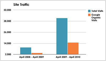Plastic Surgery Case Study - Site Traffic - Search Influence