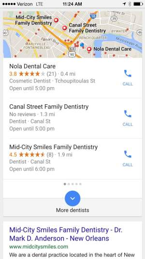 Dentists Near Me Search Image - Search Influence