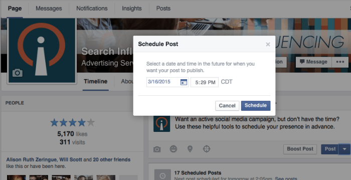 Facebook Scheduled Post Image - Search Influence