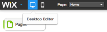 Wix Desktop Editor Image Search Influence