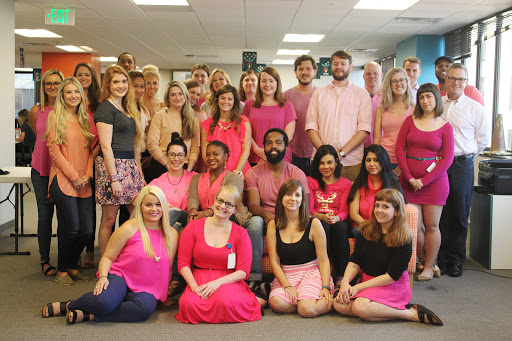 Search Influencers wear pink for Likes for Lives campaign