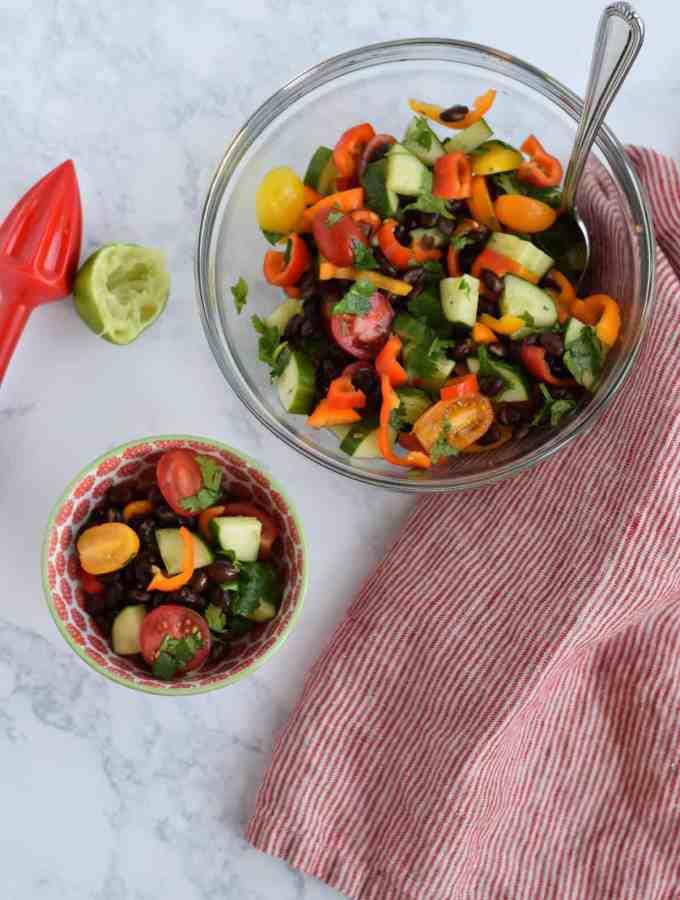 Skinny Cucumber and Tomato Salad