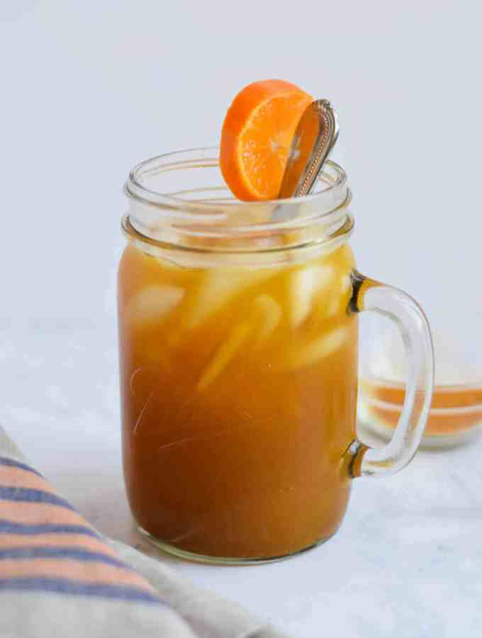 Turmeric Iced Tea with Orange