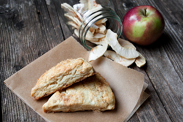 Dried Apple and Cream Cheese Scones