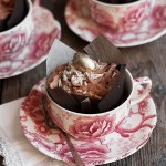 Flourless Chocolate Cupcakes with Coconut and Whipped Milk Chocolate Ganache Frosting