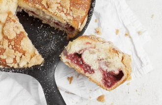 Strawberry Streusel Skillet Sweet Bread