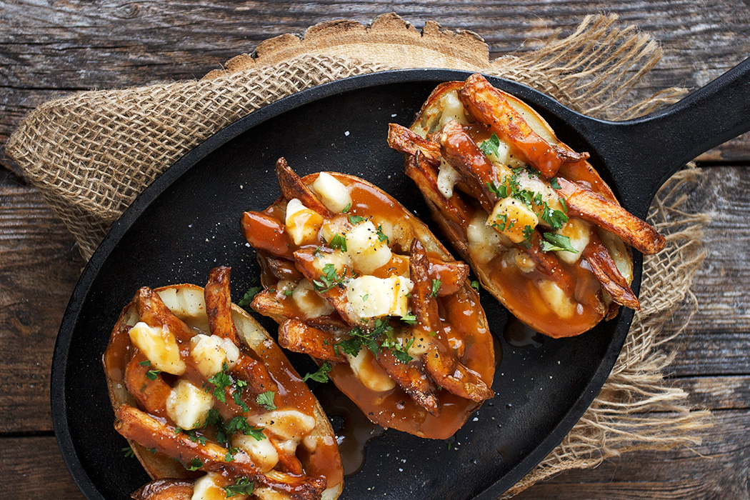 Football Food: Poutine Potato Skins