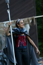 "Amy Thone as Prospero in Seattle Shakespeare Company's 2013 Wooden O production of ""The Tempest."""
