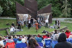 "The cast of Seattle Shakespeare Company's 2013 Wooden O production of ""The Tempest."""